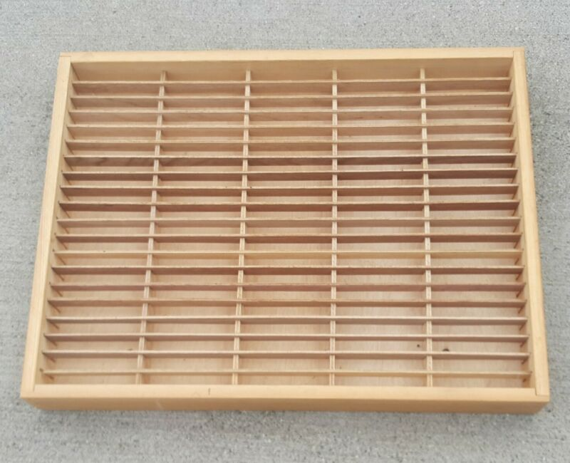 NAPA VALLEY 100 Cassette Tape Storage Unit Wooden Box Wall Shelf Case Holder VTG