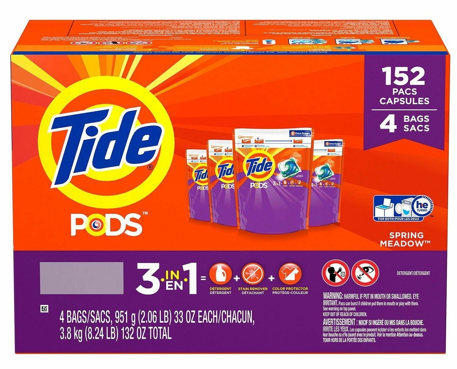Tide Pods Laundry Detergent, Spring Meadow  New