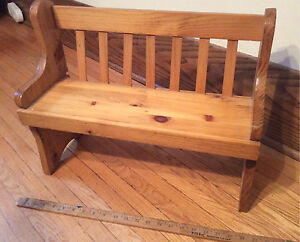 Wood Doll Bench