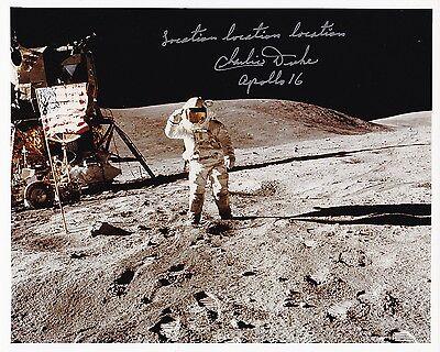 SALE !! NASA Astronaut Charlie Duke Apollo 16 Signed Photo