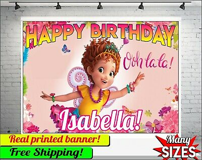 Customized Banner For Birthday (Fancy Nancy Backdrop Personalized Happy Birthday Party Vinyl Banner Custom)