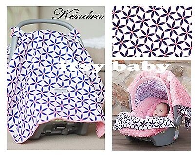 WHOLE CABOODLE Carseat Canopy 5pc set for Infant Car Seat ~ KENDRA ~
