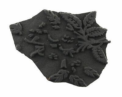 Bunta Stamped Wood Printing Textile Batik 19cm Antique Rajasthan India 5054