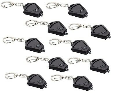 MINI MICRO LIGHT 10 Pack FLASHLIGHT LED KEYCHAIN -Super Bright-Photon Beam Torch