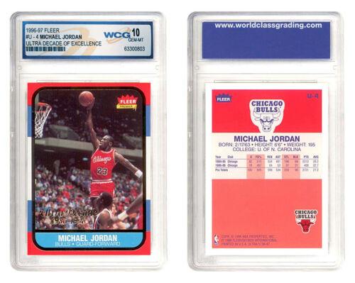 Michael Jordan 1996-97 Fleer Ultra Decade Excellence Rookie Card #u4 Gem Mint 10