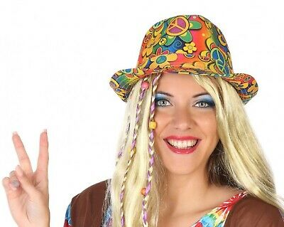 Adults Ladies Mens Hippie Hippy Hat 60s 70s Fancy Dress Costume Outfit Accessory](60s Outfits For Men)