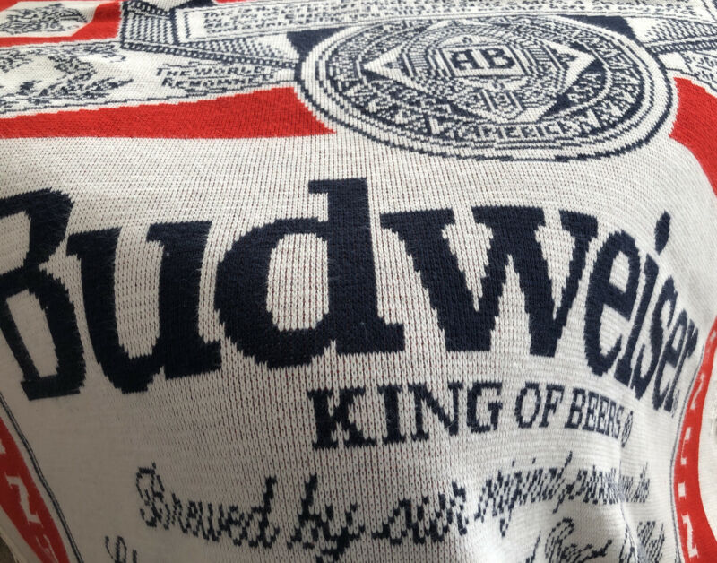 Budweiser Beer Knit Throw Celebrity Knits Made In USA