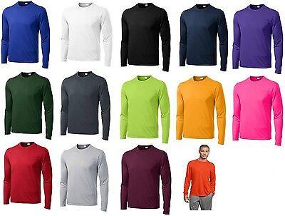Mens Moisture Wicking Dry Long Sleeve dri-fit Running T-shirts S-4XL NEW ST350LS Dry Long Sleeve Shirt