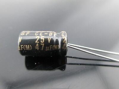 30pcs Elna Capacitors Rbd 47uf 25v 47mfd Audio Series Bi Polar Capacitors