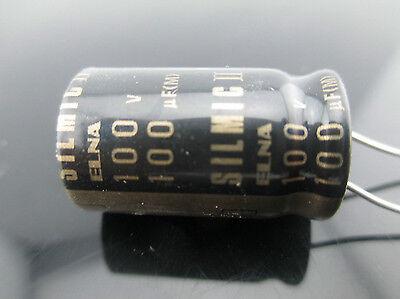Japan 2pcs Elna Rfs Silmic Ii 100uf 100v Highest Audio Capacitor New Diy Hifi