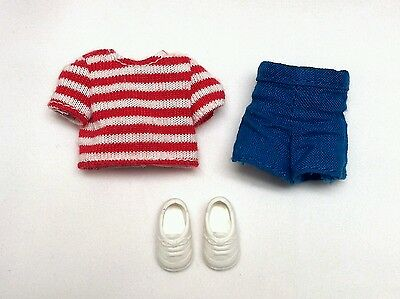 Kelly Tommy Doll Clothes Nautical Outfit Red Striped Top Blue Shorts Shoes HTF!