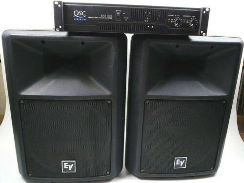 """EV Sx300 12"""" Passive Speakers(2) - QSC RMX 1450 Amp - 8 Cables - PA - DJ System"""