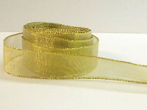 FANTASTIC-GOLDEN-MESH-RIBBON-23MM-WIDE-10-METERS-FREE-POSTAGE