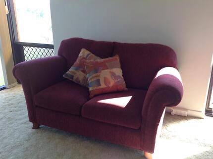 Sofa 2 seater maroon A1 condition