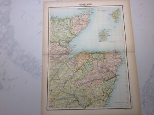 Antique Map of Scotland (1898 section 2)