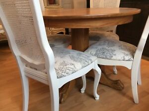 Beautiful Shabby Chic chairs (4) FRENCH PROVINCIAL style