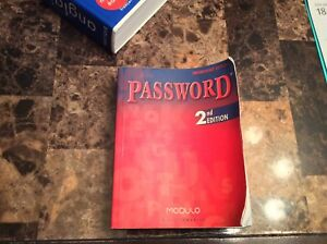 Dictionnaire anglais Password