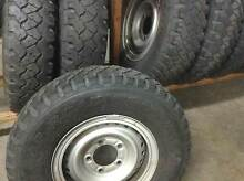 Stock Toyota Land Cruiser five stud Steel Split Rims with tyres Moorooka Brisbane South West Preview
