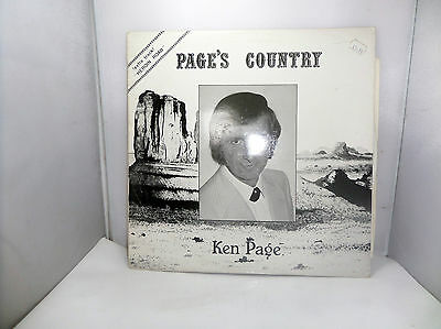 PAGES COUNTRY KEN PAGE RKD3 DOWNING RECORDS   VINYL LP