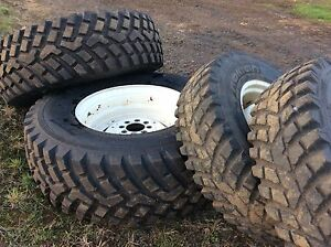 Tractor tyres 480/80R30 & 340/80R24 on rims to suit New Holland Baw Baw Area Preview