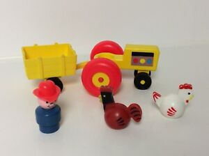 Fisher Price vintage Little People Tractor Set