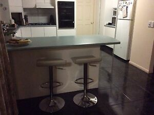 White adjustable bar stools Clear Island Waters Gold Coast City Preview