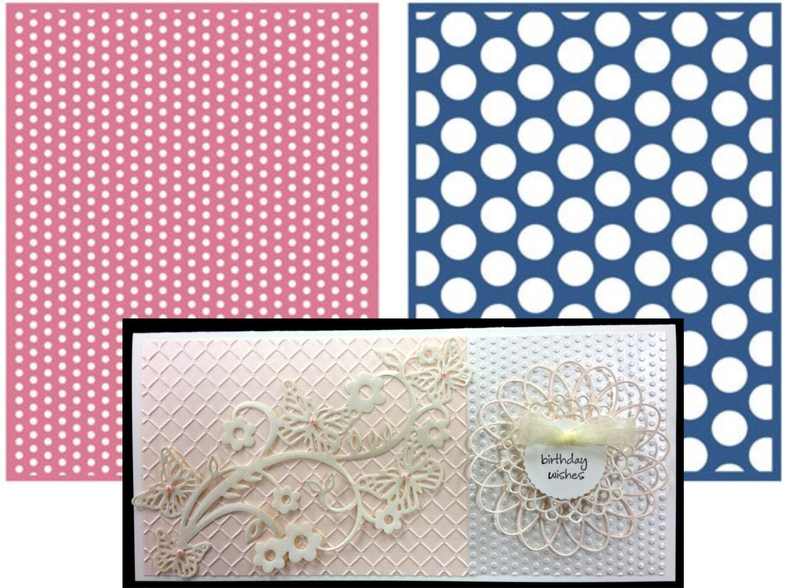 Lifestyle crafts embossing folders - Spotted Lifestyle Crafts Embossing Folders Ef0024 Polka Dot