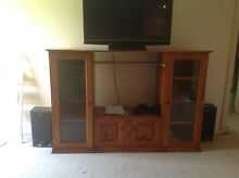 Wood tv unit Moss Vale Bowral Area Preview