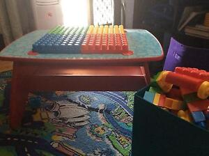 Kids mega blok table and 200+ bloks Killcare Heights Gosford Area Preview
