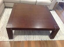 Large Dark Brown Square Wooden Coffee Table Adamstown Newcastle Area Preview