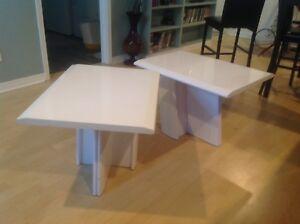 2 tables basse de salon blanche