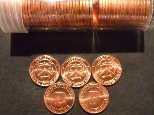 Mint set Tokens (P & D ) 50 pcs Ch Gem BU Red Lincoln Cent