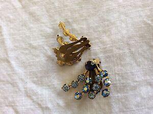 Vintage made in Austria rhinestone earrings