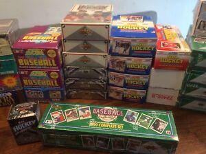 Unopened Hockey, Baseball and Basketball Boxes