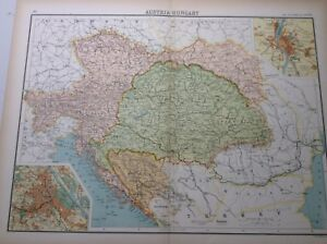 Antique Map. Of Austria and Hungary (1898)