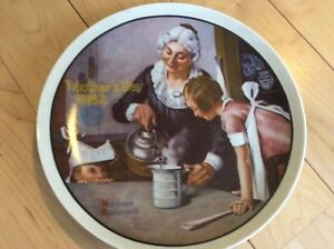 The Cooking Lesson Decretive Plate by Norman Rockwell