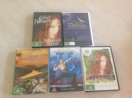 Five Celtic DVDs: Lord of the Dance, Celtic Thunder, Celtic Woman