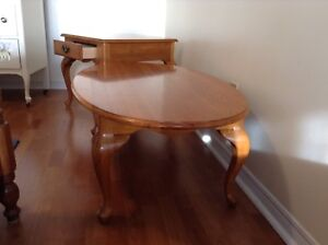 Lovely solid oak coffee table and end table