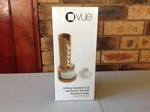 Brand new Espresso Cup and Bamboo Holder - Vue Currans Hill Camden Area Preview