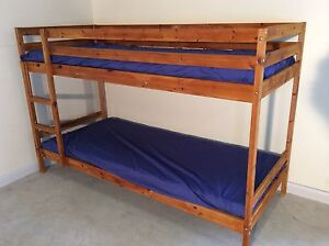 Ikea single bunk bed wooden + mattresses SYDNEY DELIVERY ASSEMBLY Windsor Hawkesbury Area Preview