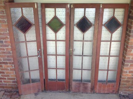 Vintage leadlight internal doors & leadlight doors in Hervey Bay Region QLD | Building Materials ...
