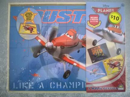 Disney Planes Wooden Puzzle (3 Pack) Brand New Sealed