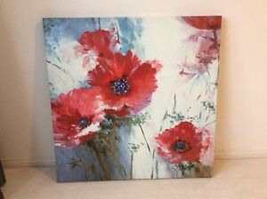 """Large Flower canvas painting 36""""x36"""""""