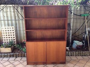 2 matching jarrah veneer bookcases .can sell separately. Rossmoyne Canning Area Preview