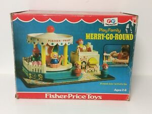 Fisher Price vintage Little People Merry-Go-Round, complete