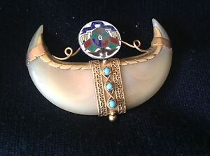Boer War South African Coat of Arms Transvaal Tiger Claw Brooch Cygnet Huon Valley Preview