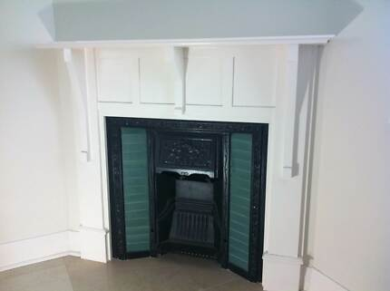 Iron fireplace and wooden mantle Queenscliff Manly Area Preview