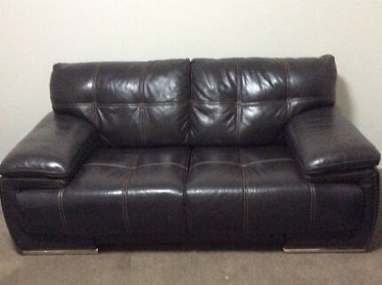 Luxurious Leather Sofas - 3 seater, 2.5 seater plus poof.