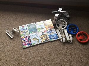 WII CONSOLE, 8 GAMES AND MANY ACCESSORIES. Sturt Marion Area Preview