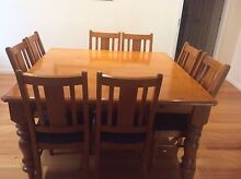 8 seater square dining table and  8 chairs Lysterfield Yarra Ranges Preview